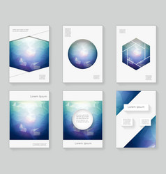 poligonal light in the dark over design template vector image