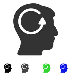 Refresh head memory flat icon vector