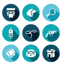 Set of animal protection icons protest vector