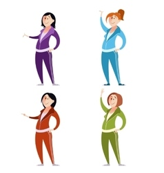 Set of sport suit women vector image vector image