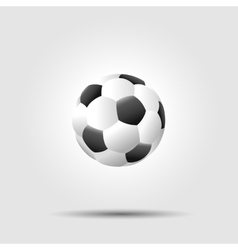 Soccer football ball on white background with vector image vector image