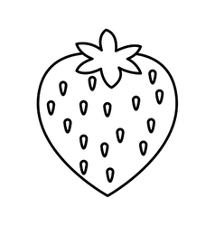 Strawberry sweet fruit isolated icon vector