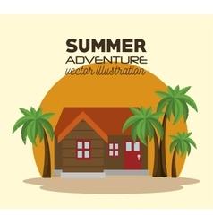 Summer adventure landscape icon vector