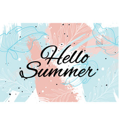 summer background cool modern leaves and vector image vector image