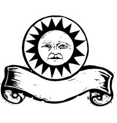 Sun Face Banner A vector image vector image