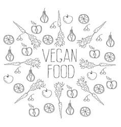 vegan food background vector image vector image