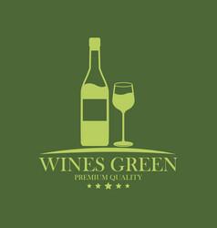 Wines green premium quality image vector