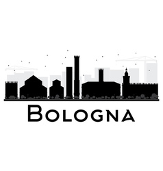 Bologna city skyline black and white silhouette vector