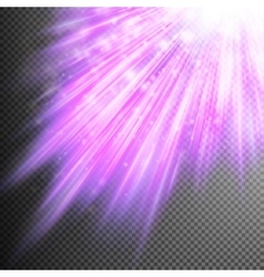 Stars are falling on purple luminous rays EPS 10 vector image
