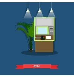 Atm flat style design vector