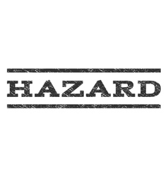 Hazard watermark stamp vector