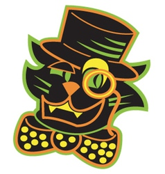 Cat with a top hat vector image