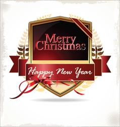 Merry christmas label vector