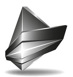 Abstract 3d logo template1 vector