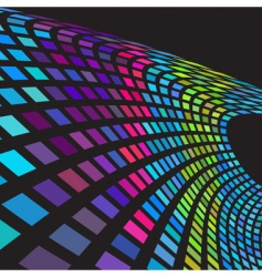 digital colorful wave vector image