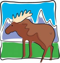 Moose land vector