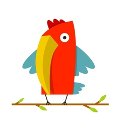 Toucan bird with big beak standing vector