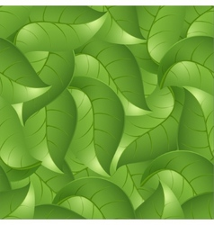 Seamless background from leaves a vector image