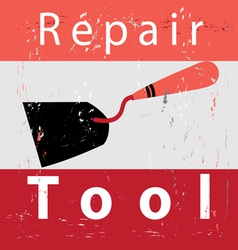 Retro poster repair vector