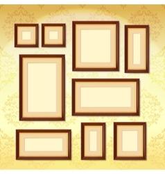 Dark Wood Frames vector image