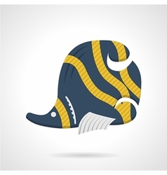 Flat color icon for butterflyfish vector