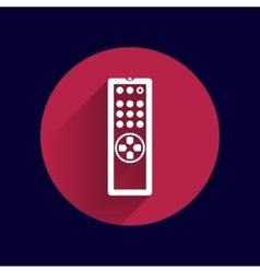 Remote control tv icon isolated media vector
