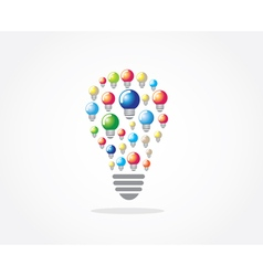 Lamp idea design vector