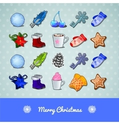 Winter cozy set vector