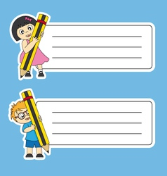 Tags labels school vector