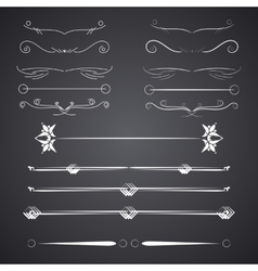 A diverse collection of dividers bumpers vector image