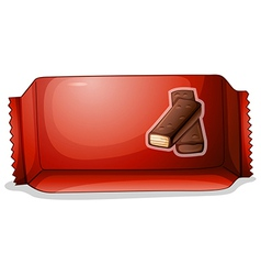 A pack of chocolate vector