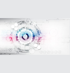 abstract color digital communication technology vector image vector image