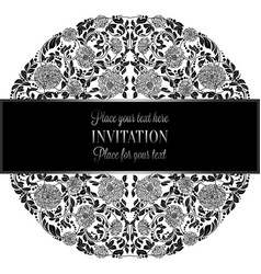 Baroque background with antique luxury silverblack vector