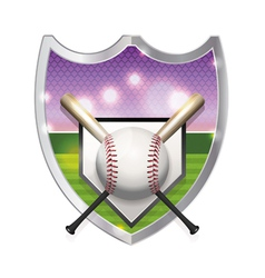 Baseball badge emblem vector