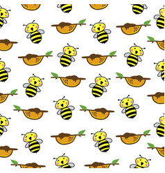 bee pattern seamless background vector image vector image