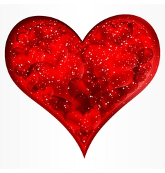 Big red glitter heart vector image
