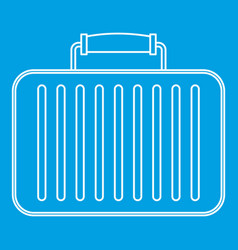 Briefcase icon outline style vector