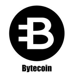 Bytecoin icon simple style vector