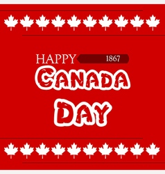 canada day clover vector image vector image