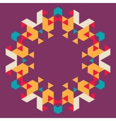 Circular geometric background vector image
