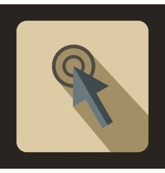 Cursor action icon flat style vector image vector image