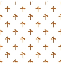 Direction signs pattern cartoon style vector