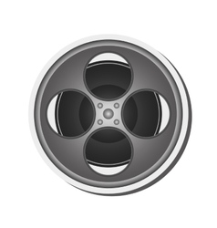 Film reel icon vector