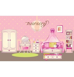 Girls room vector