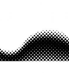 halftone wave curl vector image