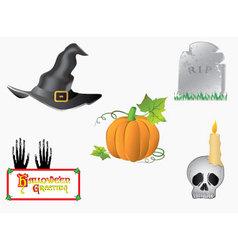 halloween-symbols vector image vector image