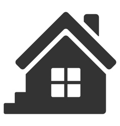 House porch flat icon vector