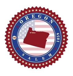 Label sticker cards of state oregon usa vector