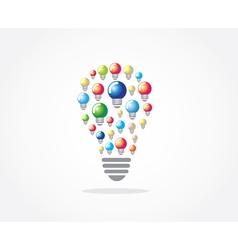 Lamp idea design vector