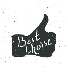 Like symbol better choice hand vector